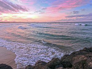 Radiant Beach Sunset