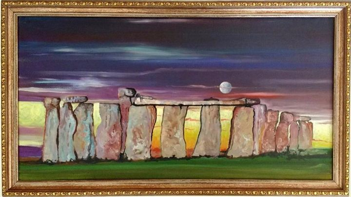 Stonehenge With Moon - Generoso Napoliello