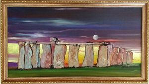 Stonehenge With Moon