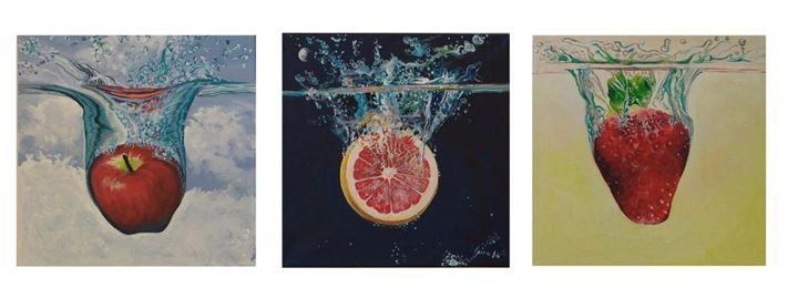 Plunging Fruit Water Triptych - Generoso Napoliello