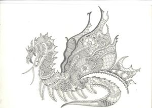 Dragon with Design