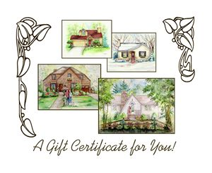 "8""x10""House Portrait Gift Card"