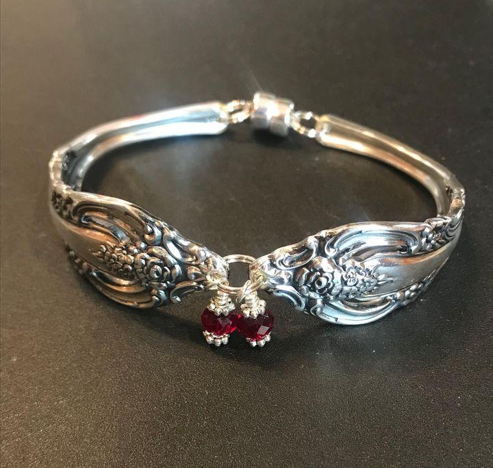 Handmade Silverware bracelet - Missing Pieces by Susan