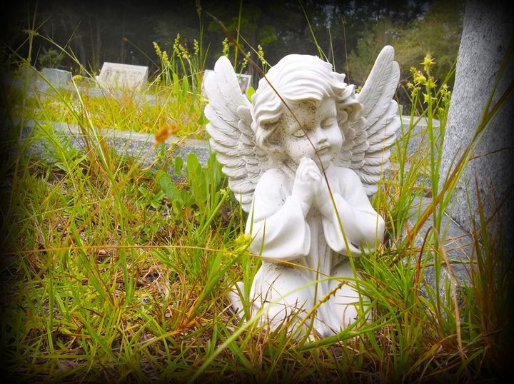Angel in the Grass - Cemetery Shots