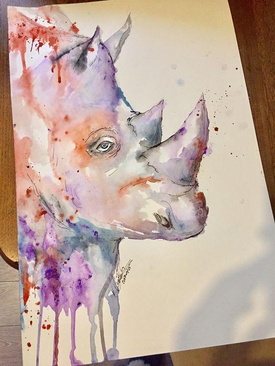 Rhino 🦏 - A Splash of Colour