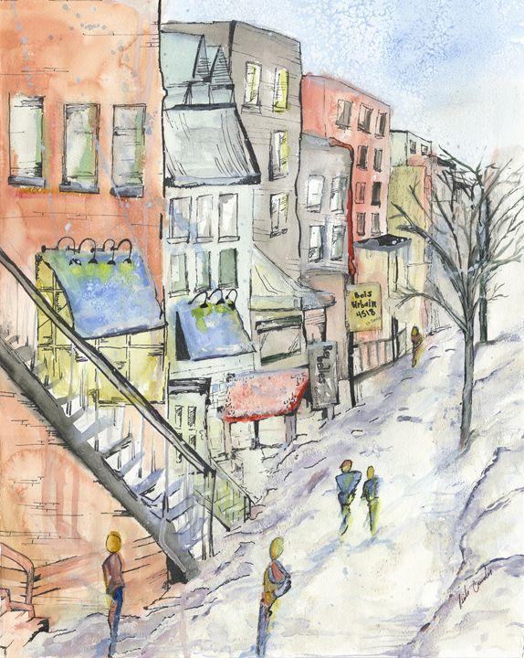 St-Denis (montreal) - A Splash of Colour
