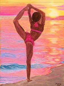 """Little Gymnast- Sunset Silhouette"""