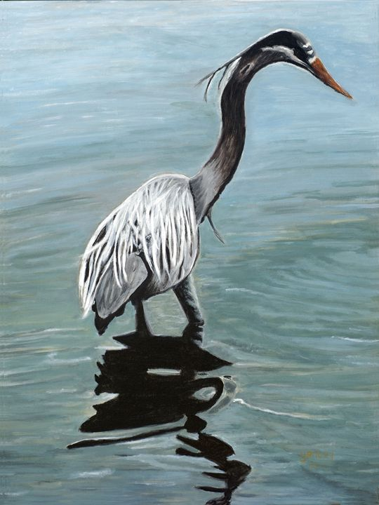Reflections of a Blue Heron - Tranquil Designs