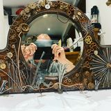 Mirror with collage