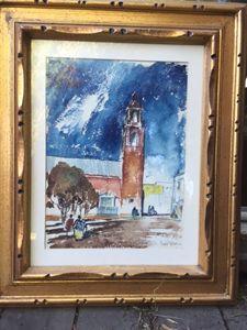 """Plaza"" by Barse Miller - California Art"