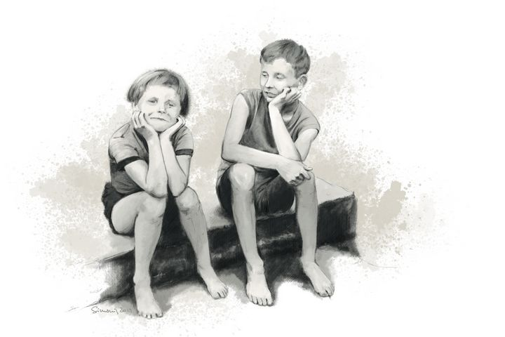 siblings - sim scribble