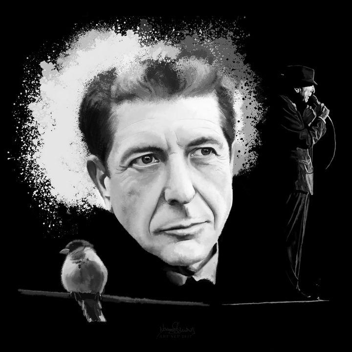 """Leonard Cohen """"bird on a wire"""" - sim scribble"""