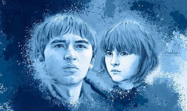 Bran -- now & then - sim scribble