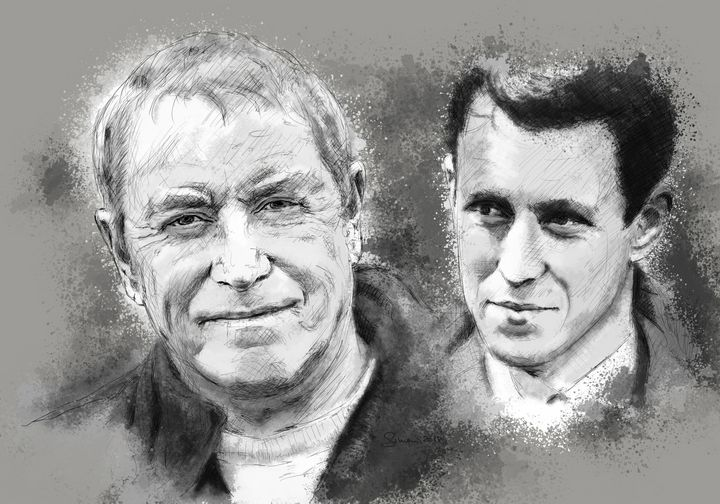 John Nettles - now & then - sim scribble