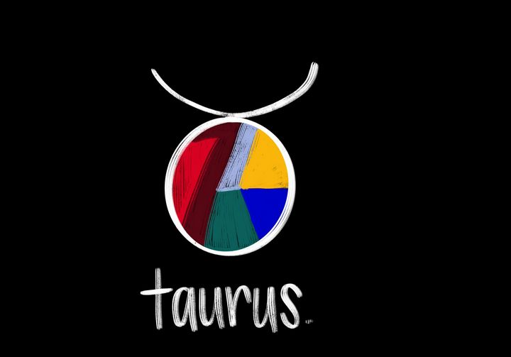 Taurus - Blue Flamingo Art