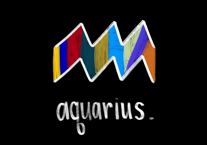 Aquarius - Blue Flamingo Art