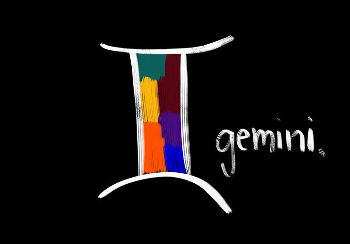 Gemini - Blue Flamingo Art