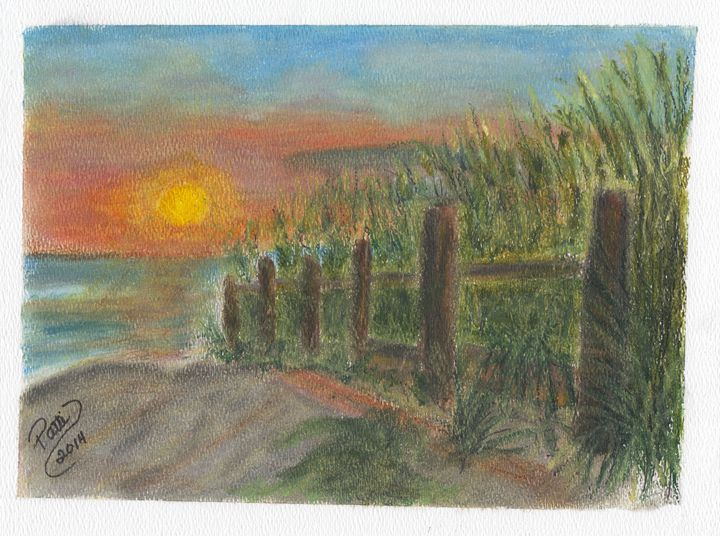 Costal Sunset - Whimsey by Patti Engle