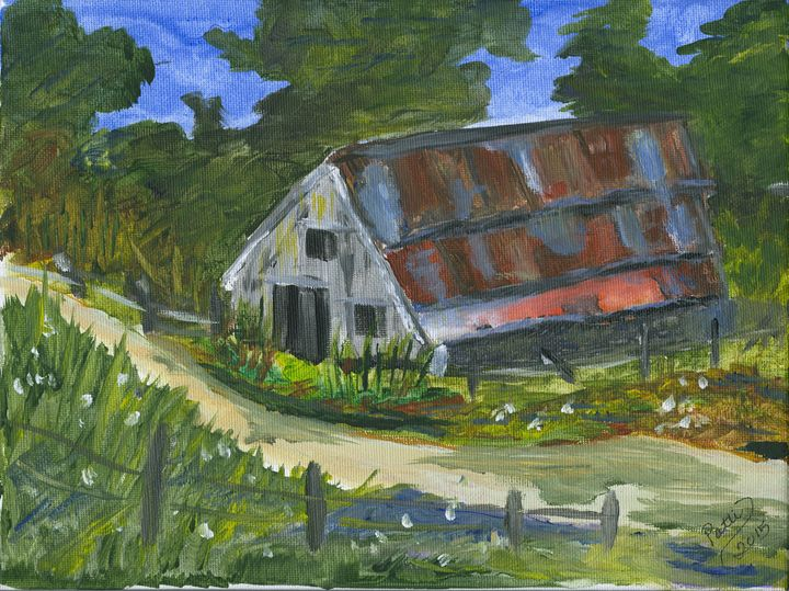 The Barn along the way. - Whimsey by Patti Engle
