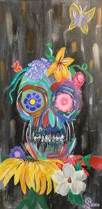 Super Sweet Skull and Flowers - Stephanie Noel