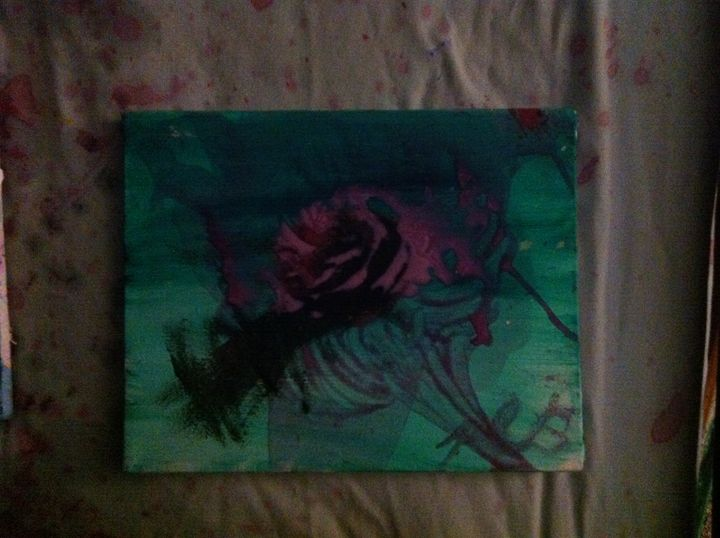 Abstract, expressionism, A rose - Pats art store
