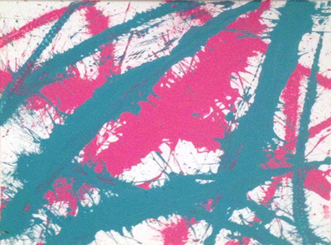 Pink & Teal - Whip Art