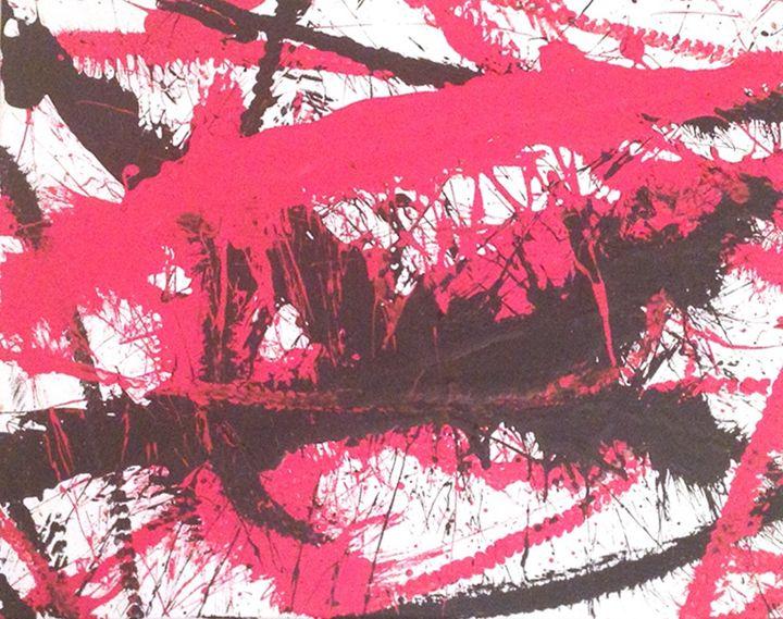 Red & Black - Whip Art