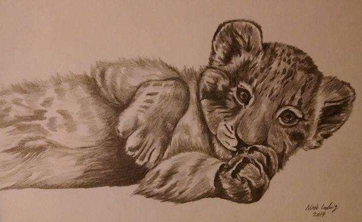 Lion Cub - Ludwig's Fine Art