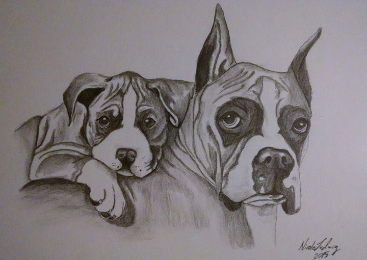 Boxer love - Ludwig's Fine Art