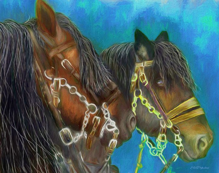 Work Horses 460 - Painting - White Roe Art and Design