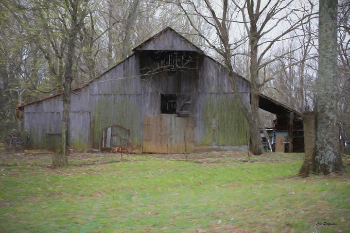 The Old Barn 1103 - Painted - White Roe Art and Design