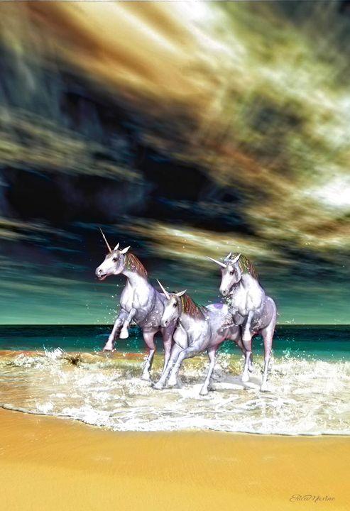 Unicorn Dreams - Digital Art - White Roe Art and Design