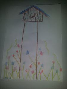 Watercolor Birdhouse