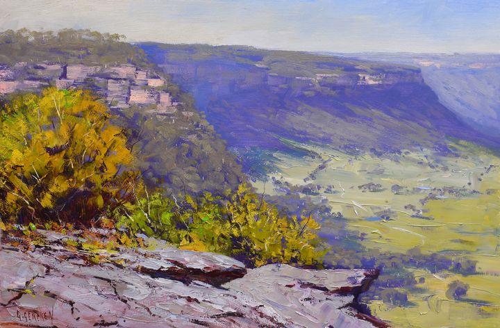View from Hassans Wall lithgow - Graham Gercken Fine Art