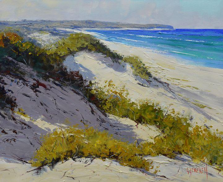 Light across the dunes central coast - Graham Gercken Fine Art