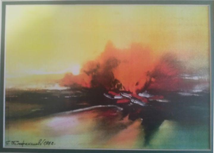 sunrise at the lake - Georgi Tyufekchiev's paintings