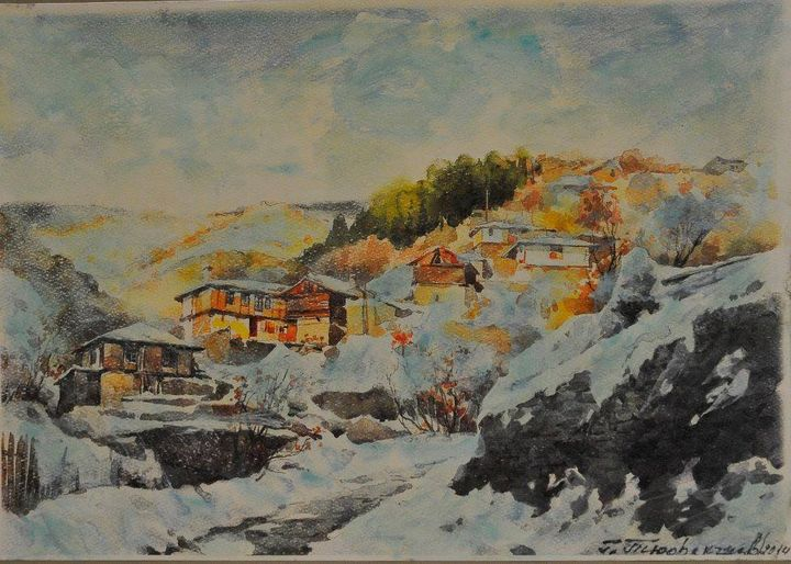 snowfall - Georgi Tyufekchiev's paintings