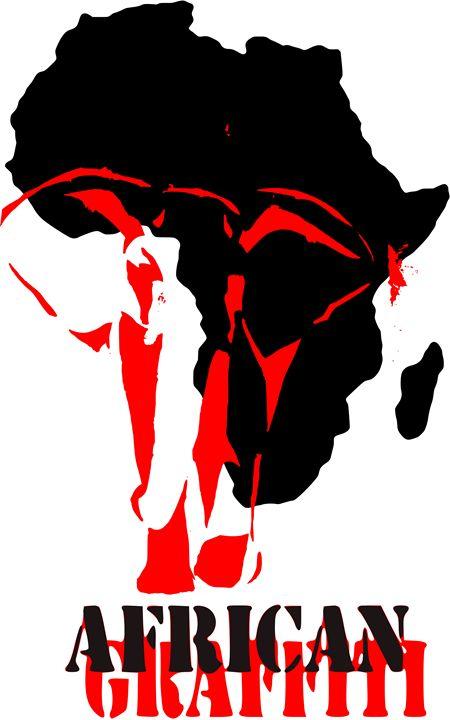 African Graffiti Elephant - Munchart