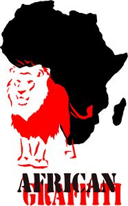 African Graffiti Lion