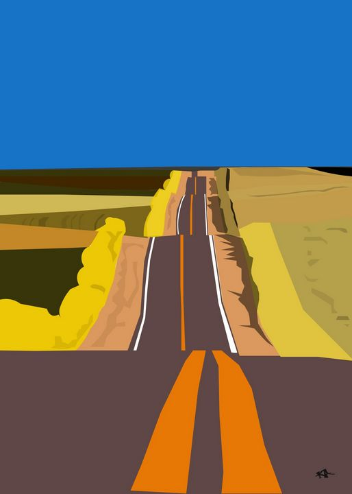 Highway Ups and Downs - Black Girl Art