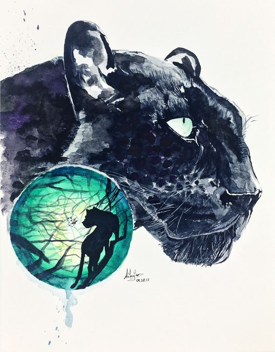 47ab063d77e14 Panther - Art by Anthony Tran - Paintings & Prints, Animals, Birds ...