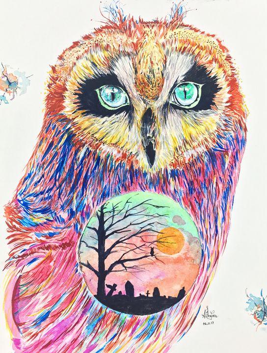 Owl - Art by Anthony Tran