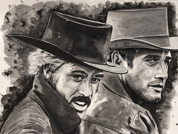 """""""Butch Cassidy and the Sundance kid"""" - Art by Anthony Tran"""