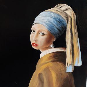 Fille à la perle Vermeer inspiration