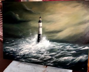 AR-MEN Oil Lighthouse Bretagne