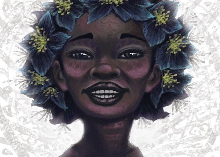 Onyx Flower - Jesse Brown Arts