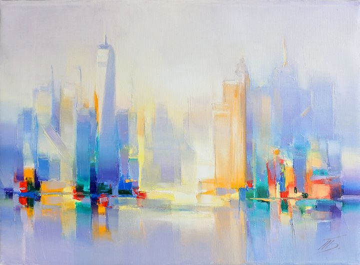 City view - painting