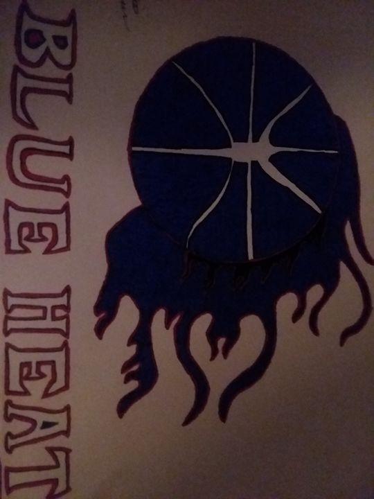 Philadelphia Blue Heat Logo - Curtis' Dynamic Art Gallery