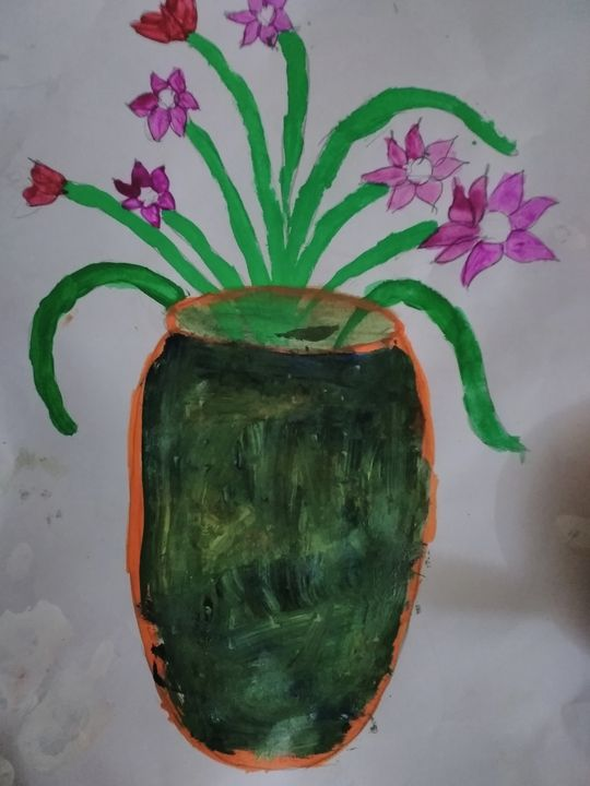 Flower vase art - Abstract art