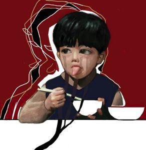 china boy eat